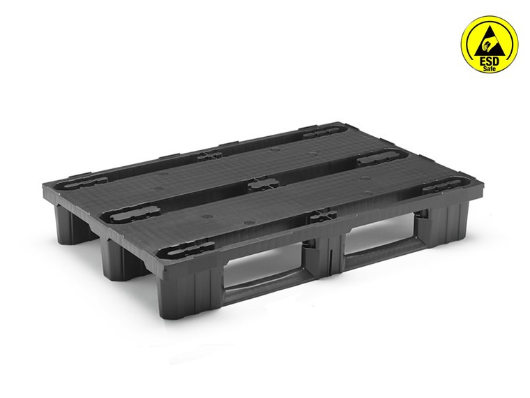 ANTISTATIC NESTABLE EURO PALLET WITH RUNNERS