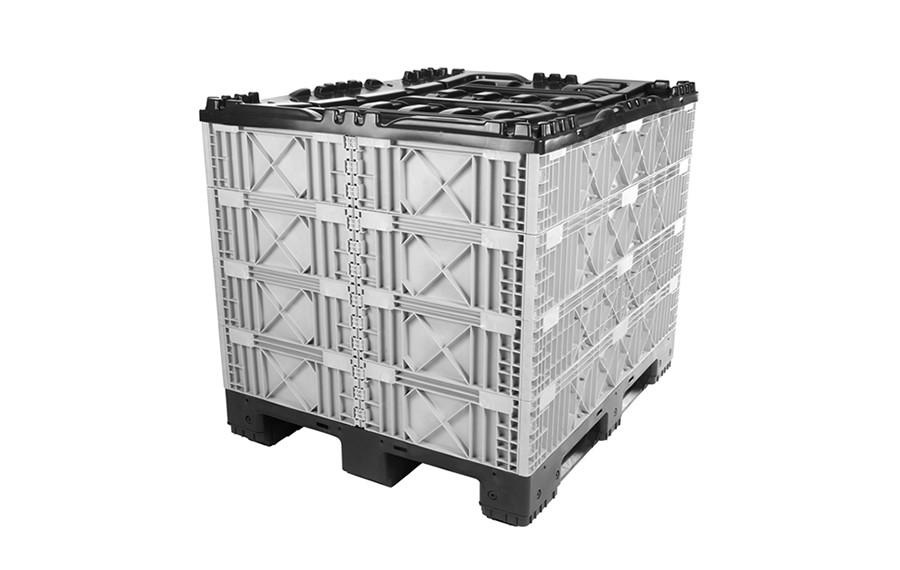 Container avec colliers modulaires pliant 1200x1000