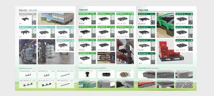 See our plastic pallets brochure