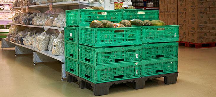 6 Avantages pour le secteur des fruits et légumes avec l'utilisation de la palette en plastique