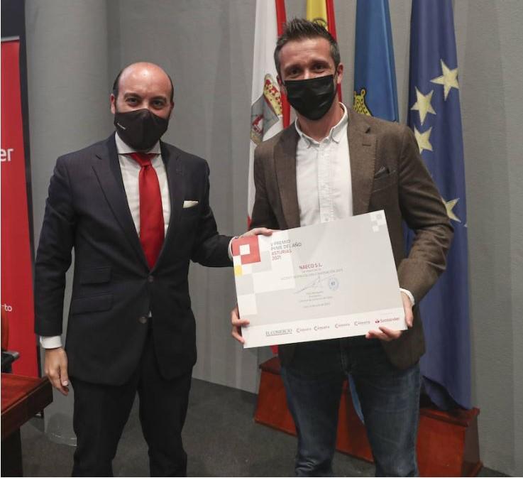 Naeco recibe el Premio a la Digitalización e Innovación en los Premios Pyme del año 2021 de Asturias